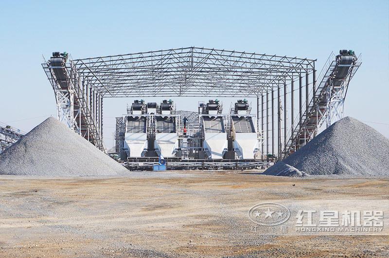 河北时产1000吨破碎生产线现场:成品砂