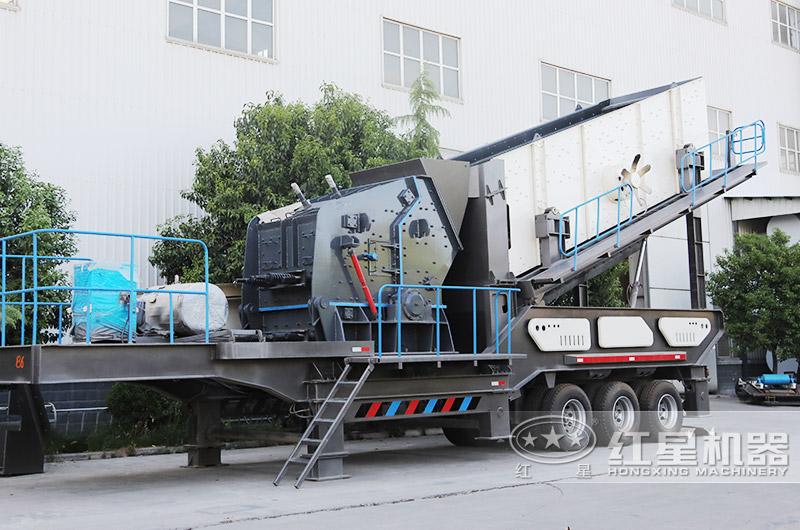 移动建筑垃圾处理设备:车载移动反击破