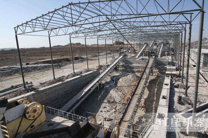 时产500吨石灰石制砂生产线,配置合理