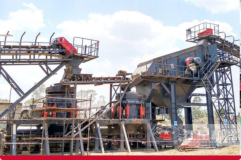南非时产500吨青石破碎项目现场