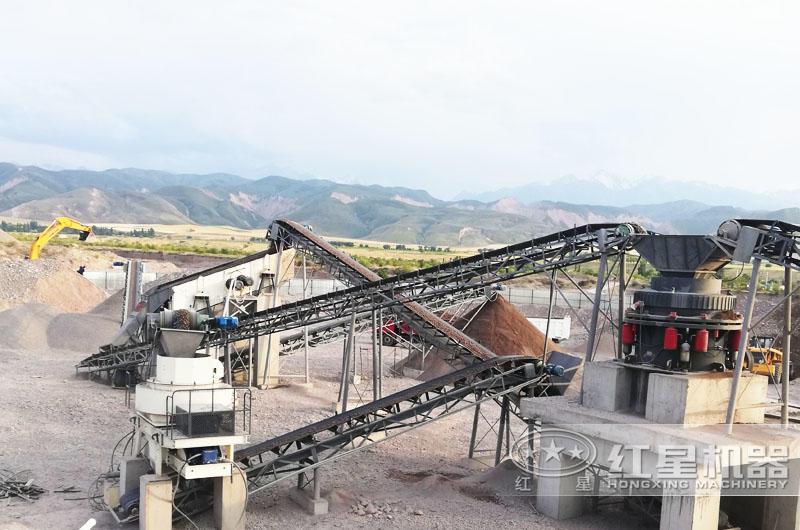 时产100吨碎砂生产线现场,合理搭配,生产不累