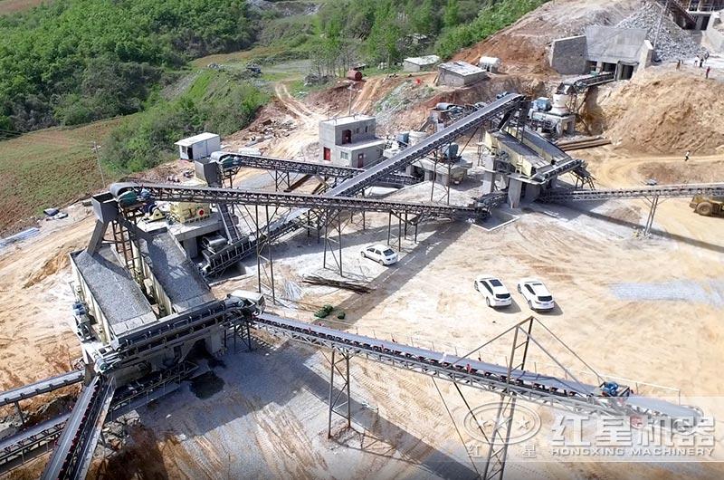 日产万吨玄武岩破碎整形生产线