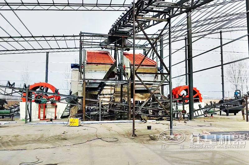 大型洗砂机生产线