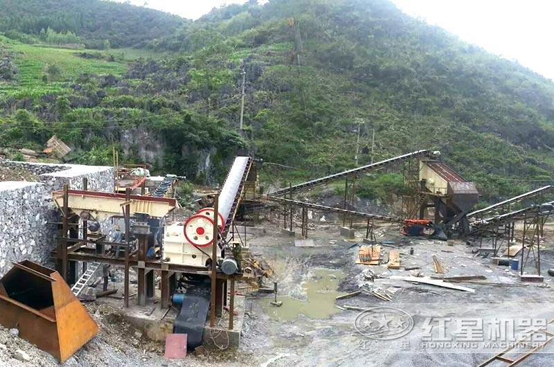 湖北时产600吨石头破碎生产线现场