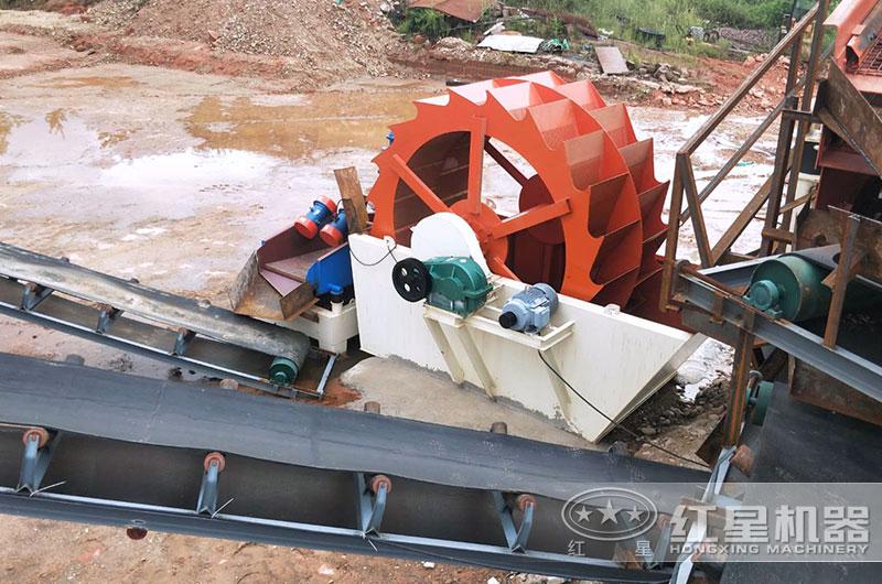 江苏客户洗砂机生产线图片