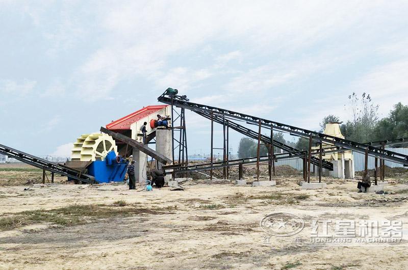 河南客户时产50吨制砂生产线