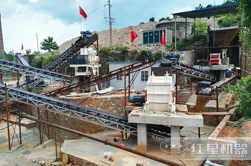 江苏客户时产100吨制砂生产线